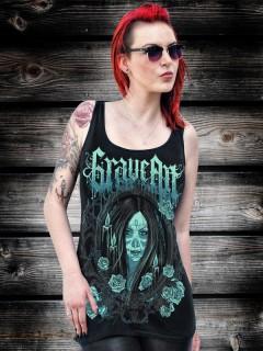 GraveArt-Tanktop für Damen Love til Death schwarz-blau
