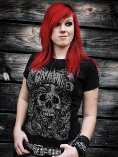 GraveArt-Damenshirt Rising Tide Girlie-T-Shirt schwarz-grau