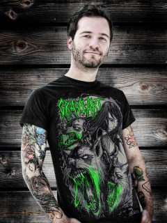 GraveArt-Shirt Wolves T-Shirt schwarz-grau-grün