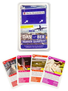 BER Flughafen Pannen Quartett Kartenspiel 40-teilig bunt 10x6cm