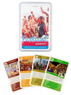 Festival Quartett Kartenspiel 32-teilig bunt 10x6x2cm