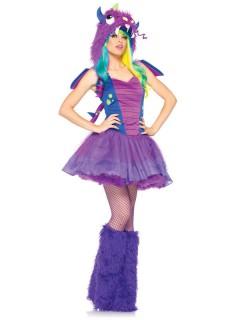 Sexy Drache Damenkostüm Monster lila