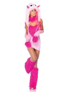 Süsses Monster Damenkostüm rosa-pink