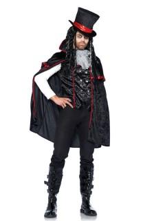 Traditioneller Vampir Halloween-Kostüm schwarz-rot