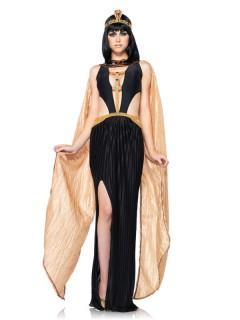 Sexy Cleopatra Antike Damenkostüm ägypterin schwarz-gold