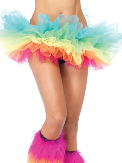Organza Tutu Regenbogen Petticoat bunt