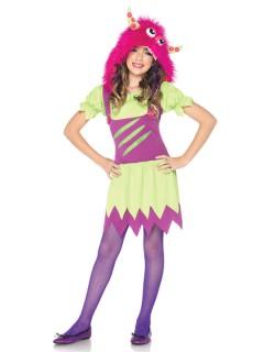 Süßes Monster Kinderkostüm pink-grün-lila