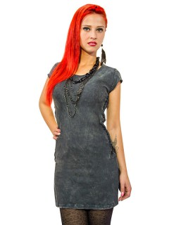 Gothic-Kleid für Damen grau