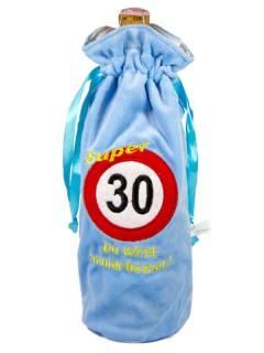 30. Geburtstag Flaschen-Deko blau 30cm