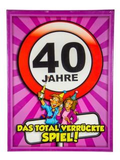 Geburtstagsparty 40 Jahre Spiel zum Geburtstag bunt 34x25cm