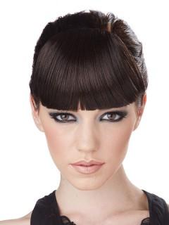 Ansteckbarer Pony Haarclip schwarz