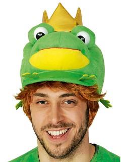 Froschkönig Mütze Märchen grün-gelb