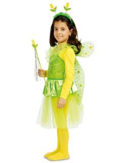 Elfe Fee Kinderkostüm Set grün-gelb