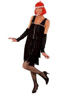 20er Can Can Flapperkleid Damenkostüm schwarz