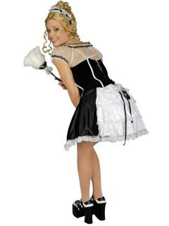 Zimmermädchen Damenkostüm Kleid Faschingskostüm schwarz-weiss