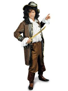 Piratenmantel Jacke braun-schwarz