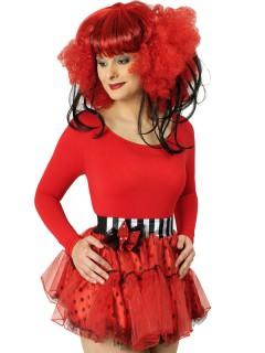 Petticoat Tutu mit Schleife rot-schwarz