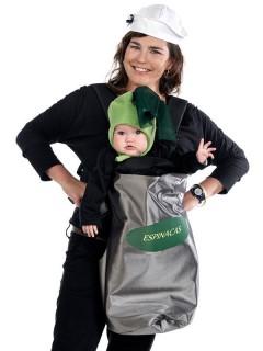 Baby Kostüm-Set Matrose für Baby-Tragetaschen grau-grün-weiss