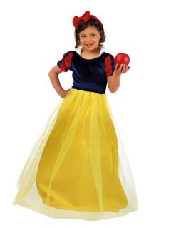 Märchenprinzessin Deluxe Kinderkostüm blau-gelb