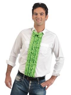 Hemdeinsatz Rüschen mit Fliege Party-Accessoire grün