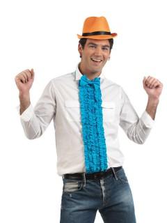 Hemdeinsatz Rüschen mit Fliege blau