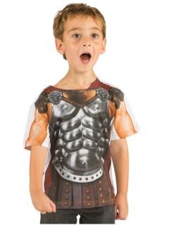Römischer Gladiator Kinder T-Shirt braun-grau
