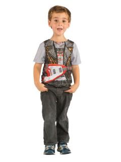 Musiker Rockstar Kinder T-Shirt grau-bunt