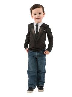 Gentleman Jackett Kinder T-Shirt schwarz-weiss