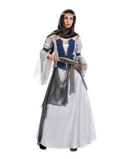 Orientalische Prinzessin Damenkostüm blau-grau