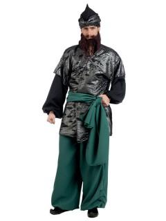 Orientalischer Krieger Deluxe Kostüm schwarz-grün