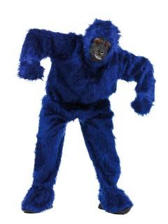 Gorilla Deluxe Kostüm unisex blau