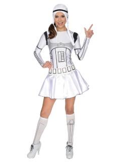 Original Star Wars Stormtrooper Damenkostüm Lizenzware weiss-schwarz