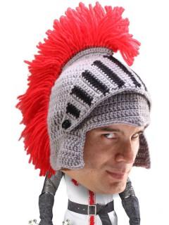 Strickmütze Ritter-Helm grau