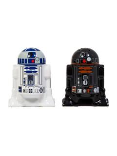 Star Wars™ Salzstreuer und Pfefferstreuer Geschenkidee schwarz-weiss-blau 7,5x9,5x5cm