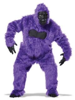 Gorilla Overall Kostüm schwarz-lila