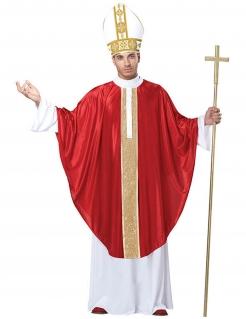 Papst Kardinal Kostüm Kirche rot-weiss-gold
