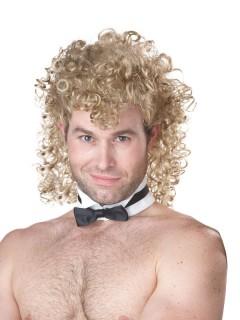 Langhaar Locken-Perücke Dauerwelle blond