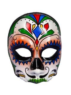 Halloween Totenkopf Ornament Maske Herr bunt verziert