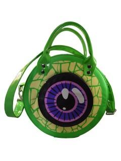 Kreepsville Gothic Handtasche Auge grün-lila