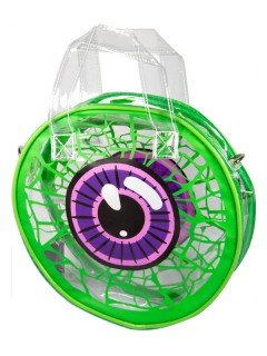 Kreepsville Gothic Handtasche Auge weiss-grün-lila