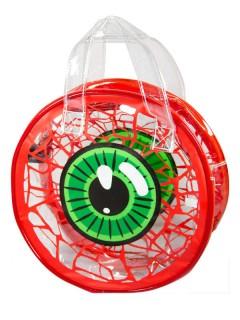 Kreepsville Gothic Handtasche Auge weiss-grün-rot