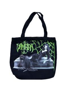 Kreepsville Gothic Handtasche Vampira schwarz-weiss 36x39cm