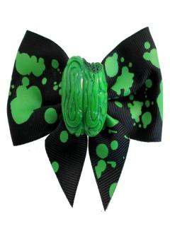 Kreepsville Gothic Zombie Haarspange schwarz-grün 9cm