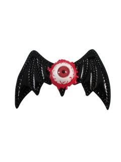 Kreepsville-Haarschmuck Fledermaus-Haarklammer schwarz 10cm