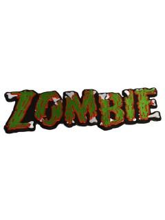 Kreepsville Gothic Aufnäher XL Zombie grün-rot