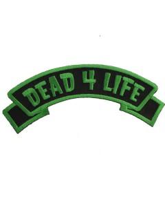 Kreepsville Gothic Aufnäher Dead 4 Life grün-schwarz