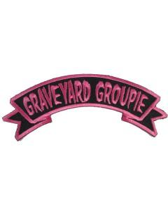 Kreepsville Gothic Aufnäher Graveyard Groupie pink-schwarz