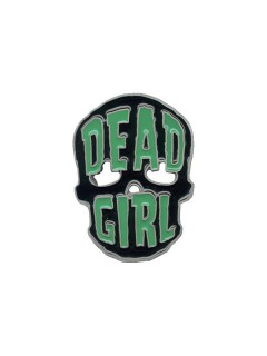 Kreepsville Gothic Gürtelschnalle Dead Girl Skull grün-schwarz