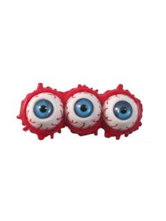 Kreepsville-Haarklammer Blutige Augen rot-weiss