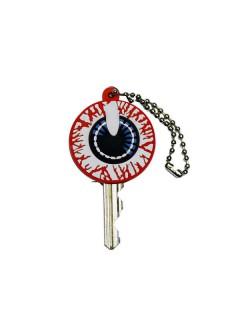 Kreepsville-Schlüsselkappe Schlüssel-Accessoire Auge rot-weiss 4cm